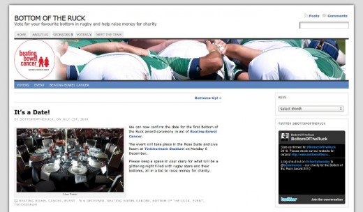 Screenshot of the Bottom Of The Ruck blog