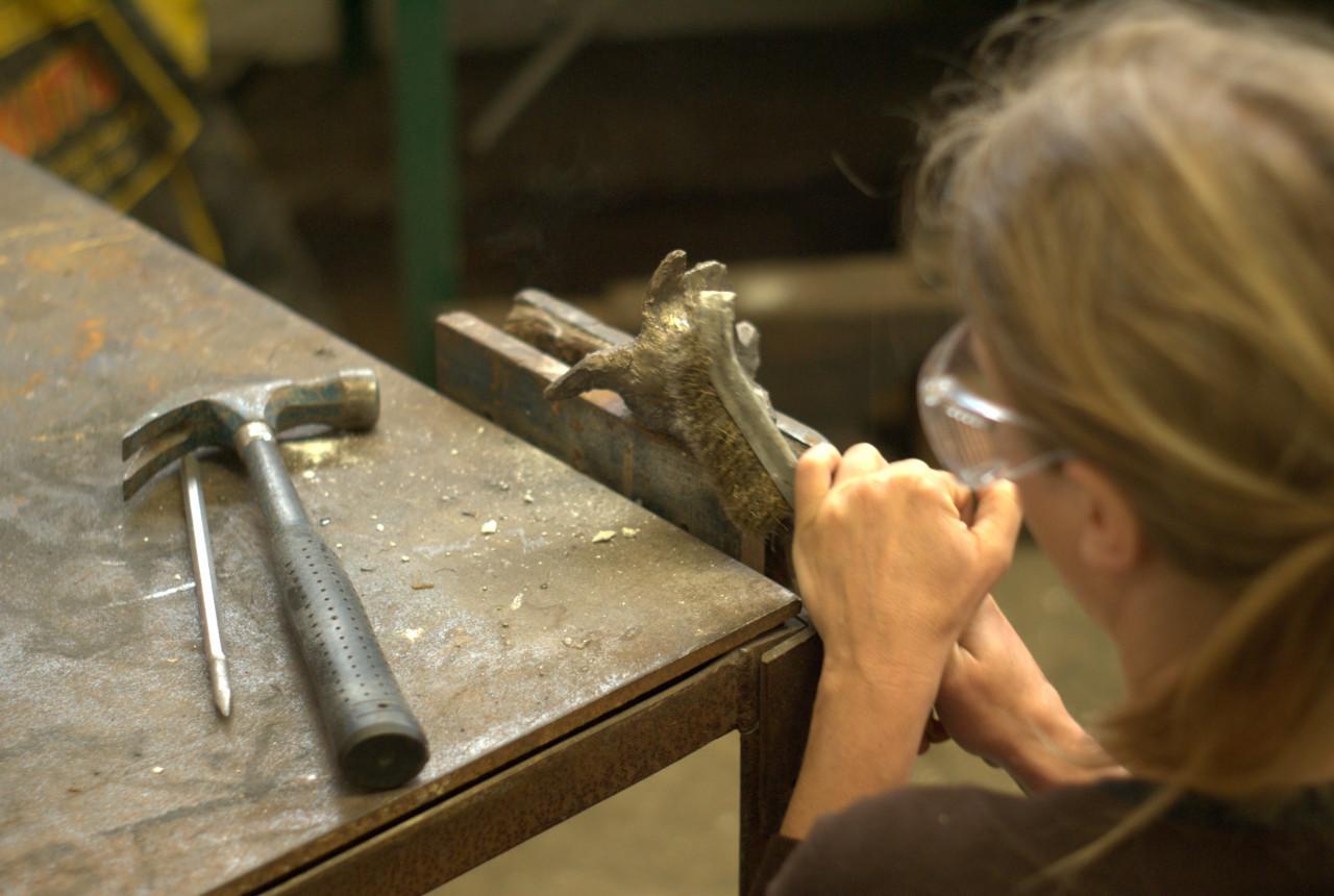 Bronze casting art event at Yorkshire Sculpture Park