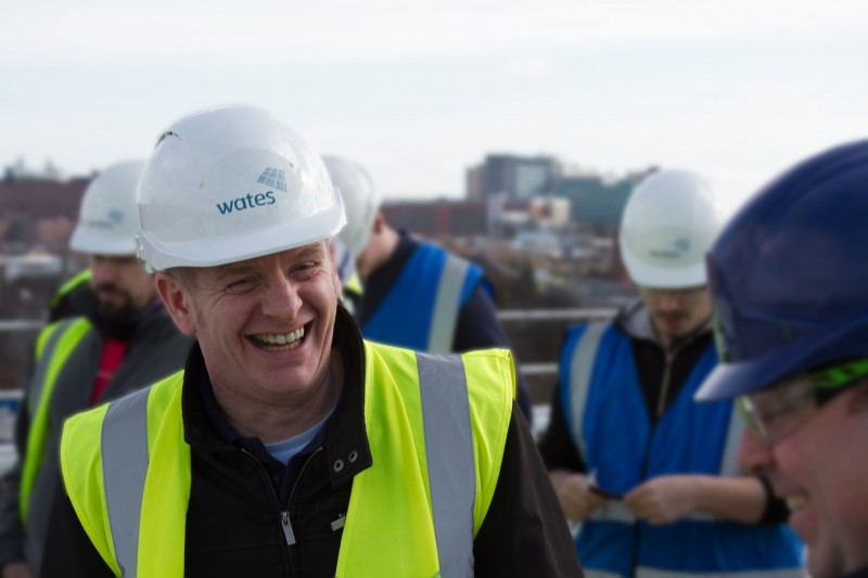 Freelance event photography for Wates construction in Leeds