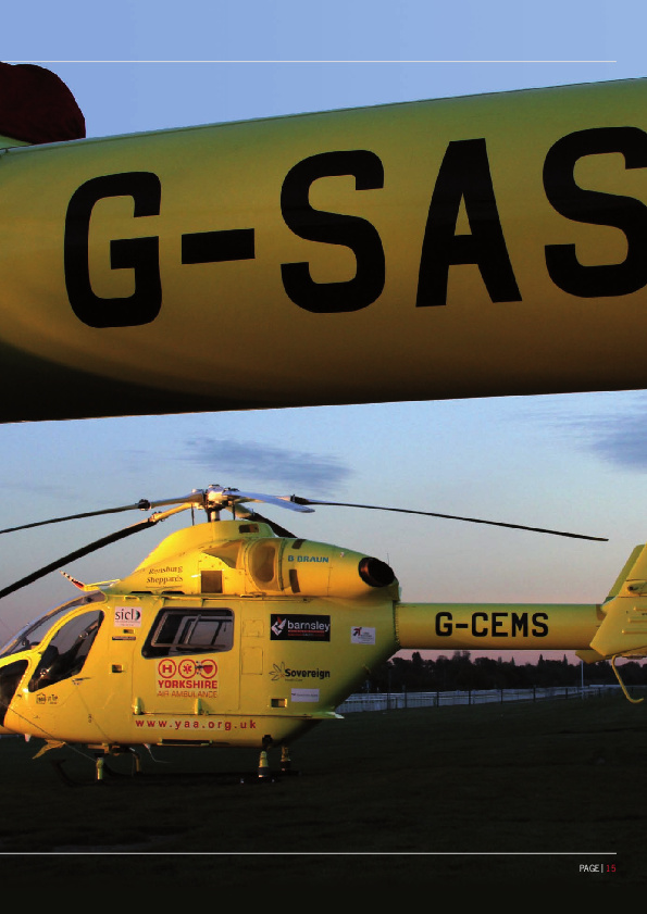 Yorkshire Air Ambulance helicopters at York Racecourse