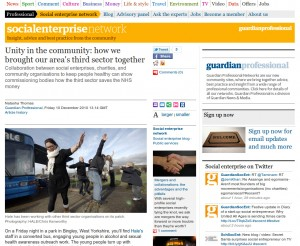 Screen shot of the Guardian Social Enterprise Network web site