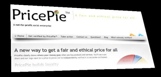 PricePie's new web site