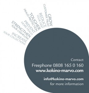 kokino-marvo's credit and fraud insight pull-up exhibition stand footer