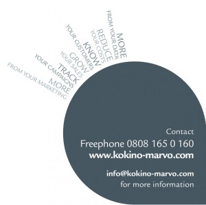 kokino-marvo's customer and marketing pull-up exhibition stand footer