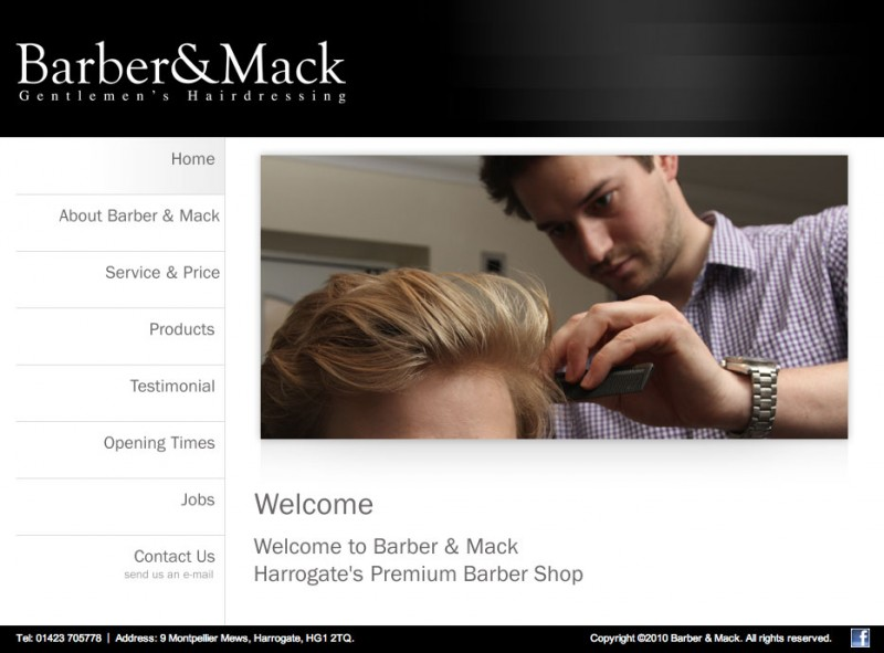 Screenshot of Barber and Mack's website showing one of my photos