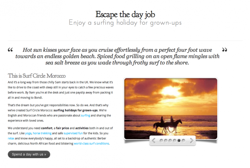 Surf Circle Morocco home page
