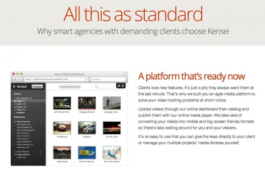 Kensei Media features page