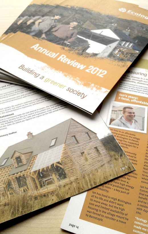 Ecology building society's annual report