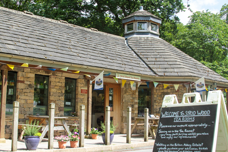 Strid wood tea room at Bloton Abbey near Skipton