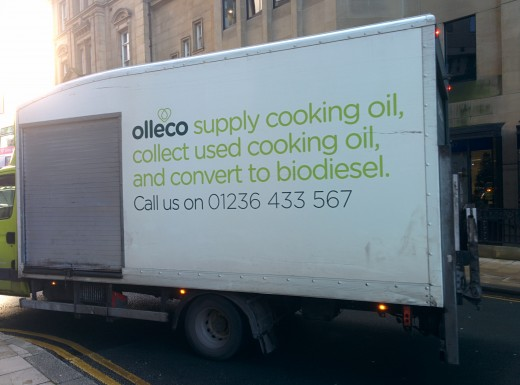 Olleco van in Leeds city centre